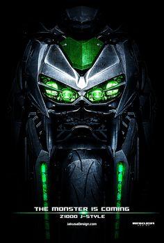 J-style sur Behance - Bikes - Motos Motorcycle Wheels, Scrambler Motorcycle, Moto Bike, Motorcycle Design, Bike Design, Kawasaki Motorcycles, Cars And Motorcycles, Ducati Cafe Racer, Z 1000