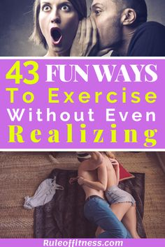 Did you know that you can lose weight, build muscle and get fit without a gym? In this article we gonna give you 43 fun ways to get without exercising. Some you will enjoy that much that you won't even realise that you are working out. Fitness Workouts, Fitness Tips, Workout Tips, Body Fitness, Losing Weight Tips, Weight Loss Tips, How To Lose Weight Fast, Workout Routines For Women, Best At Home Workout