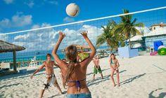 LAND SPORTS @ BEACHES RESORTS: Golf *   - Croquet  - Basketball  - Horseshoes  - Day/ Night Tennis  - Fitness Center  - Beach Volleyball  - Billards / Pool Tables  - Rock-Wall Climbing *  - Darts  - Bocci Ball *  - Fitness Program  - Shuffleboard  - Lawn Chess  - Table Tennis  - Cards  - Squash *  - Racquetball *