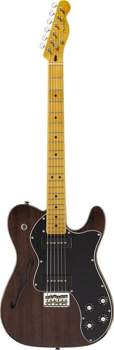Fender Modern Player Telecaster Thinline Deluxe The Modern Player Telecaster Thinline Deluxe casts an already distinctive classic Telecaster model in a whole new light with a full-throated pair of sin