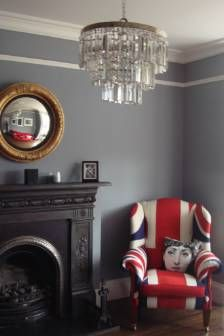 The Wall Colour ROCKS, Unique Union Jack Chair!  LOVE The Pop Art Pillow  The Fornasetti Cushion. Studio Style☜♥☞ ℒℴѵℯ
