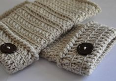 learn to crochet fingerless gloves.