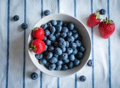 Check out Strawberries and blueberries by Grounder on Creative Market