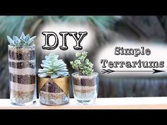 Layered Sand Succulent Planter - YouTube