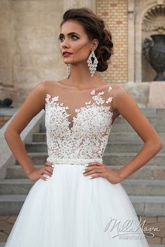 Milla Nova 2016 Bridal Wedding Dresses / http://www.deerpearlflowers.com/milla-nova-wedding-dresses/4/