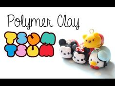 DIY Polymer Clay How-To: [4 in 1] Disney Tsum Tsum Tutorial - YouTube