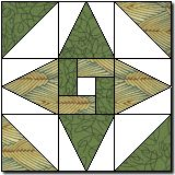 Interlocked Star template. Original block by Marcia Hohn of The Quilter's cache'.