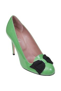 Red Valentino-patent leather pump