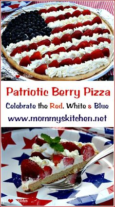 Patriotic Fruit Pizza - This is a delicious dessert that you can serve on your of July party or picnic. This red, white and blue treat is super simple to make and also a perfect summer treat for your friends and family. Patriotic Desserts, 4th Of July Desserts, Fourth Of July Food, Köstliche Desserts, Holiday Desserts, Holiday Recipes, Delicious Desserts, Dessert Recipes, July 4th