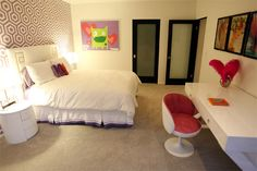 such a cute mod girls room