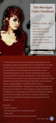 The Morrigan - Mimosa Books & Gifts, Celtic Goddess Irish Celtic, Celtic Art, Celtic Paganism, Irish Mythology, Pagan Gods, Celtic Goddess, Celtic Warriors, Eclectic Witch, Celtic Culture