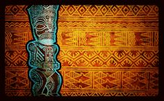 Tiki painting mixed media by rob deut holland tattooartist polynesian