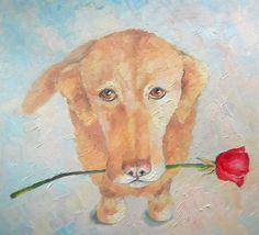 Custom Pet Portrait I'm sorry my love Original Oil by FrozenLife
