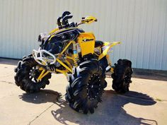 These Can Am ATVs are bad ass! They look tough and rigid...very durable! I want one