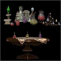 12. Finds - Pinky's sims 2 - Vuodatus.net Supernatural Witch, Sims 2, Fountain, Barware, Bar Accessories, Water Fountains, Glas