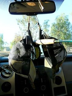 Fly Fishing Rod Holder for rear view mirror,WITH HAT CLIPS