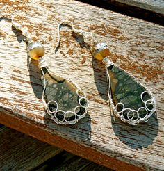 Mountain High Picasso Jasper Earrings agate wire by FunNFiber