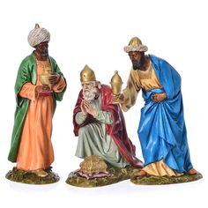 Tre Re Magi presepe Landi 18 cm Christmas World, Christmas Clay, Christmas Crafts For Kids, Christmas Decorations, Nativity Church, The Nativity Story, Les Trois Rois Mages, Nativity Scene Pictures, Nativity Sets For Sale