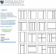 Primary CSS 免費用 CSS 架構好你的網頁佈局