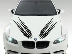 Car Hood Bonnet Monster Claw Scratches Vinyl Sticker Decals x 2 - Left and Right