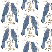 Golly Bard - Woodland Collection - Bluebirds fabric by gollybard, click to purchase