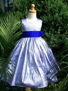 Lavender Purple Silk Flower Girl Party Tea Length by mapletree2000, $90.00