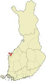 Location of Korsholm in Finland