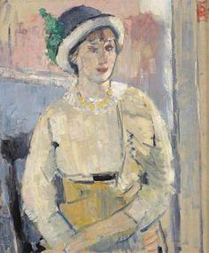 Rik Wouters - La Femme à la blouse jaune; Creation Date: 1943; Medium: oil on canvas; Dimensions: 25.79 X 21.46 in (65.5 X 54.5 cm)