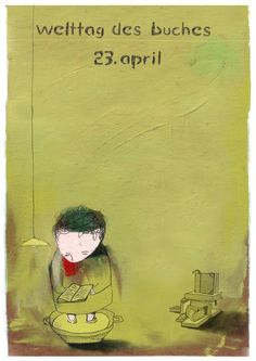 "April 23  World book day -   Wall-calendar-project 2011: ""calendar of memorial days"" -   Published by Büchergilde - Frankfurt"