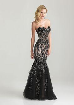 Beaded Floor Length Strapless Gown fashion dress black prom formal gown evening strapless beaded floor length