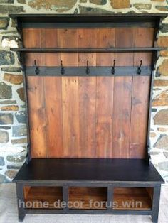 Excellent Entryway Coat Rack And Bench Made From Pallets  The post  Entryway Coat Rack And Bench Made From Pallets…  appeared first on  Home Decor For US .