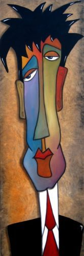 Stressed Again Original Abstract Modern Expressionist Art Painting FIDOSTUDIO   eBay