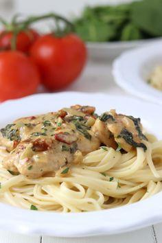 Super Ideas For Pasta Recepten Kip Healthy Pasta Recipes, Vegetarian Recipes, Chicken Recipes, Cooking Recipes, Pasta Noodles, Alfredo Noodles, Pasta Alfredo, Beignets, Pasta Dishes