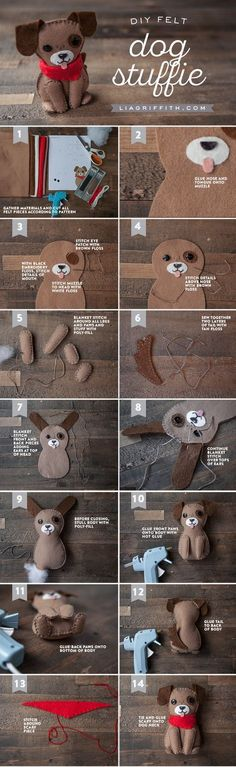 Woof! Want to make the cutest stuffed dog you ever did see? Downloadable pattern and tutorial by handcrafted lifestyle expert Lia Griffith.