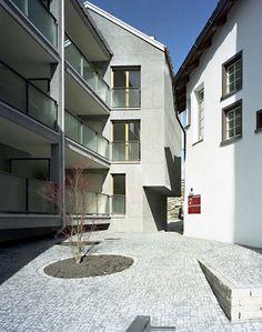 Miroslav Šik, Housing, Haldenstein, 2008 www. Chur, Miroslav Sik, Facade House, Clean Design, Techno, Stairs, Exterior, Windows, Mansions