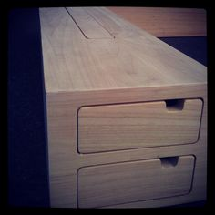 Bed made from ayouswood #mowk #furniture #wood #ayous #bed