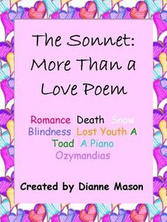 I need help creating a sonnet?