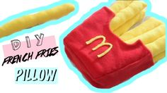 DIY Room Decor • French Fries Pillow (No Sew) • heartcindy