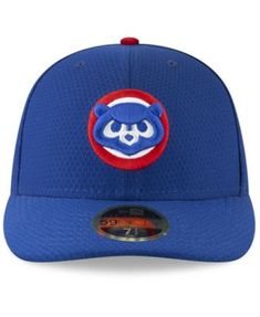 03529b082e2 New Era Chicago Cubs Batting Practice Low Profile 59FIFTY-fitted Cap - Blue  6 7 8