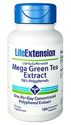 Life Extension Mega Green Tea Extract 98% Polyphenols, 100 vegetarian capsules - http://alternative-health.kindle-free-books.com/life-extension-mega-green-tea-extract-98-polyphenols-100-vegetarian-capsules/