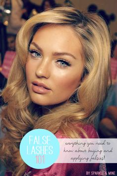False Lashes 101: Everything you need to know about falsies! This post takes you step-by-step and shares TONS of tips and tricks! This is an absolute must-pin for any girl that wants to try false lashes! (not for MC!)