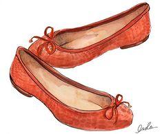 red flat shoes.- www.inslee.net