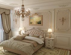 Classical bedroom – Home Decoration Small Living Rooms, Living Room Decor, Bedroom Decor, Luxury Homes Interior, Interior Design, Home Decor Colors, Bedroom Furniture Design, Classic Interior, Luxurious Bedrooms
