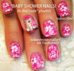Video Of How To Do Baby Shower Nail Art http://stg.do/SHvd
