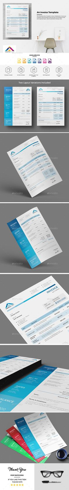 Invoice Excel by Design_circle This is a Professional Business - invoice spreadsheet template free