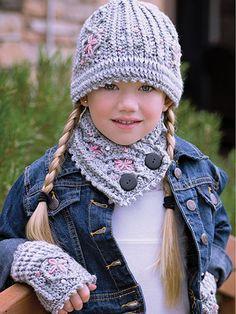 Kid's Hat, Neckwarmer & Mittens crochet