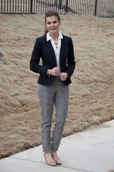 printed pants & blazer