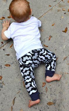 Baby Boy Pants/Toddler Pants/Baby Boy Leggings/ Mustache Print Leggings/Pants Bandana Set/Mustache Outfit/Hipster Baby Clothes