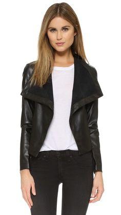 BB Dakota Ariana Drape Front Jacket