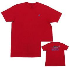 NAUTICA Mens Nautical Red Tee Shirt Brewery & Mediterranean Ristorante NWT #Nautica #GraphicTee